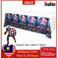 ISALES Captain American Theme Tablecloth Table Cover Kids Party Event Decorations