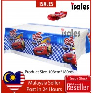 ISALES Cars Theme Tablecloth Blue Table Cover Kids Party Event Decorations