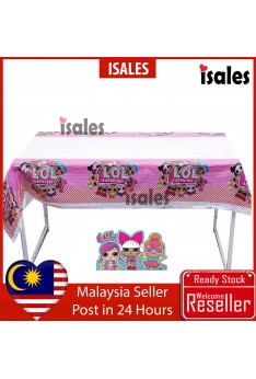 ISALES Blue LOL Surprise Tablecloth Table Cover Kids Party Decorations Baby shower