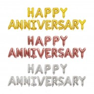 Ready Stock ISALES 16 Inch Happy Anniversary Wedding Event Foil Balloon