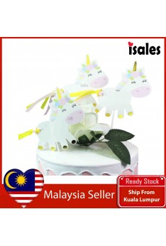 Cake Decoration ISALES 3pcs Unicorn party Cake cupcake Topper