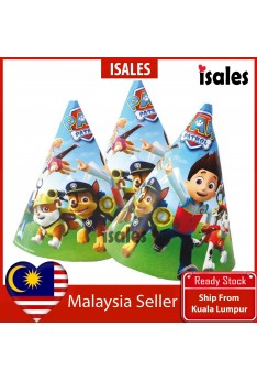 ISALES 6pcs Paw Patrol Theme Kids Party Hat Birthday Baby Shower Party Event Celebration