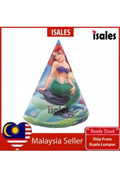 ISALES 6pcs Mermaid Theme Kids Party Hat Birthday Baby Shower Party Event Celebration