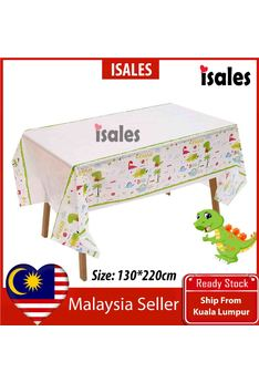 ISALES Dinosaur Theme Tablecloth Table Cover Kids Party Decorations Baby shower