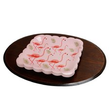 Party Decoration 10pcs Pink Flamingo Pink  7inch Paper Plate Birthday