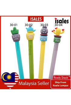 Ready Stock ISALES 1pcs Cactus Gel Pen School office Supplies Cute Stationery Door Gift Party Supplies