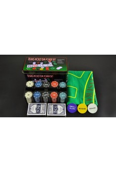 Ready Stock Poker Set With 200 Chips-Texas Holdem (NEXT DAY SHIP OUT)