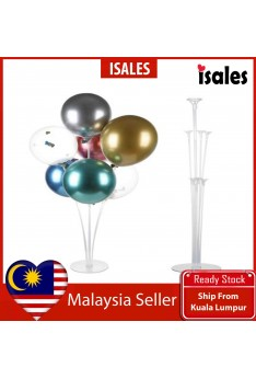 Party Decoration ISALES Balloons 1set Collumn Stand Clear Plastic Ballon Stick Birthday