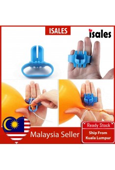 Ready Stock ISALES 1PCS Latex Balloons Tie balooon Accessories Party tool Easy to use
