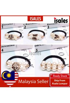Ready Stock ISALES Woman Love Butterfly Crown Flower Rose Pearl Design Hairband