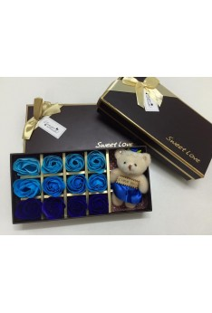 MOTHER'S DAY / VALENTINE'S DAY SOAP ROSE WITH BEAR GIFT BOX