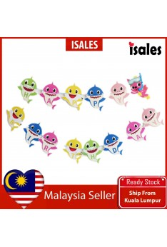 Party Decoration ISALES Baby shark shape design Banner Flag baby shower Kids party