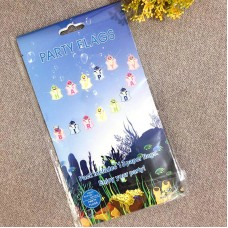 Party Decoration ISALES Baby shark design Banner Flag baby shower Kids party