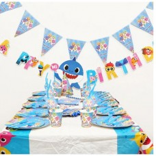 ISALES 6pcs Baby Shark Theme Kids Party Hat Birthday Baby Shower Party Event Celebration