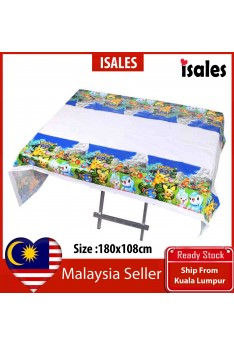 ISALES 1pcs Pokemon Theme Tablecloth Table Cover Kid Party Decorations Baby shower