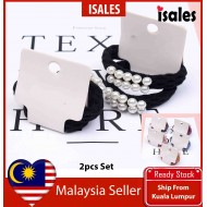 ISALES Korean Fasion Style Woman 2pcs Set Pearl Hairband Accessories