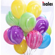 5pcs 10 inch 12inch Colorful Agate Marble Balloons Latex Balloon Wedding Valetine's Day Baby Shower Birthday Party Decoration Supplies