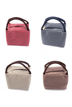 Ready Stock ISALES stripe Lunch bag Insulated lunch box storage