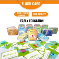 Early Learning Flash Card Book Animal Shape Colour Body Number Alphabet Fruit Weather Kids Education