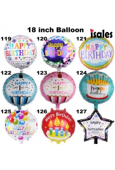 ISALES Malaysia Party Deco 1 pcs 18 inch Happy birthday Gel well soon Foil Balloon 119-127