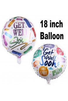 ISales 18 inch 1 pcs Get Well Soon We Miss you Best Wishes Cheer Up Foil Balloon