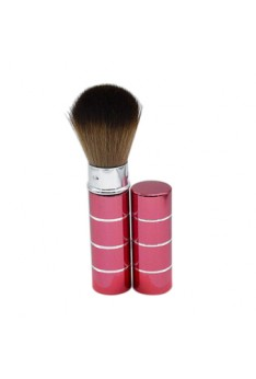 Portable Retractable Handle Makeup Brush Set Kit Pro Powder Blush Brush Red