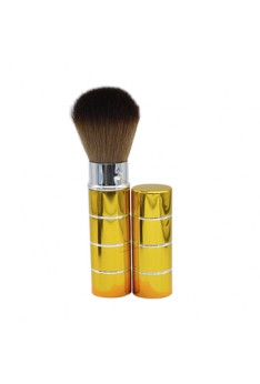 Portable Retractable Handle Makeup Brush Set Kit Pro Powder Blush Brush Gold
