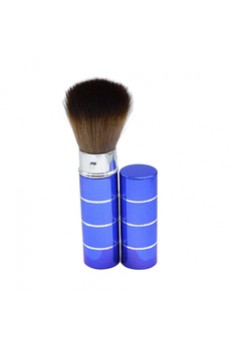 Portable Retractable Handle Makeup Brush Set Kit Pro Powder Blush Brush Blue