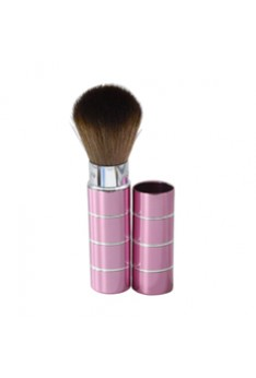Portable Retractable Handle Makeup Brush Set Kit Pro Powder Blush Brush Pink