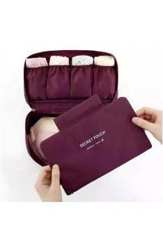 Isales Korea fashion travel underwear bra pouch organizer waterproof multi function multipurpose bag ( Maroon)