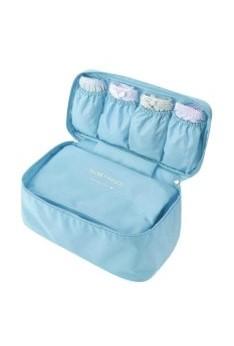 Isales Korea fashion travel underwear bra pouch organizer waterproof multi-function multipurpose bag ( Light Blue )
