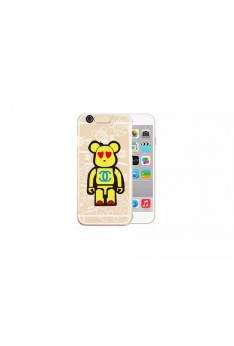 Iphone 6 Popobe bear Casing Incoming Call Cute LED Flash Light UP Remind Clear Cover Case  L50015IPHONE6
